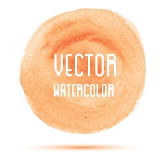 Mancha laranja de aquarela isolada no fundo branco