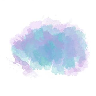 Mancha pintada de aquarela azul e roxa isolada