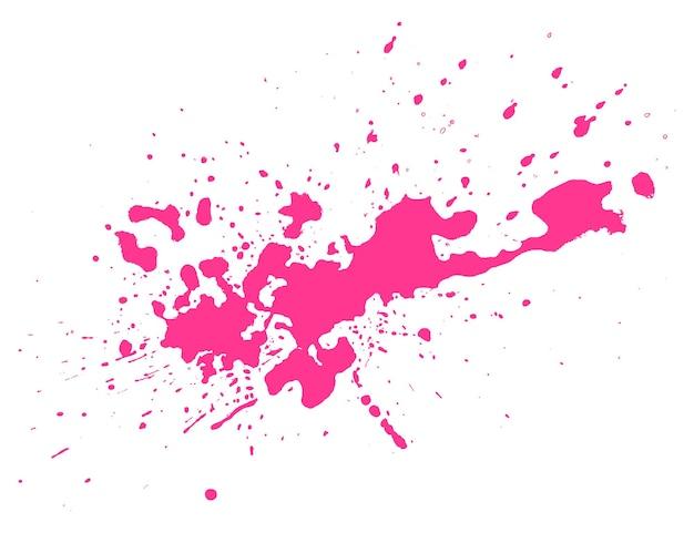 Mancha rosa em fundo preto. borrão do grunge, tinta manchada de tinta. ilustração vetorial