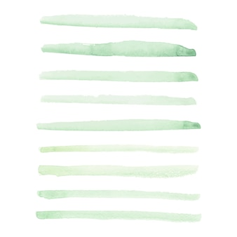 Mancha verde clara de aquarela mão desenhada vector isolada no fundo branco para o projeto.