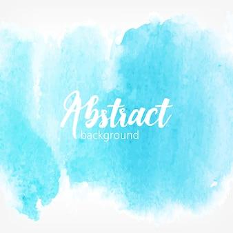 Manchas de aquarela abstratas, cor azul. fundo realista criativo com lugar para texto.
