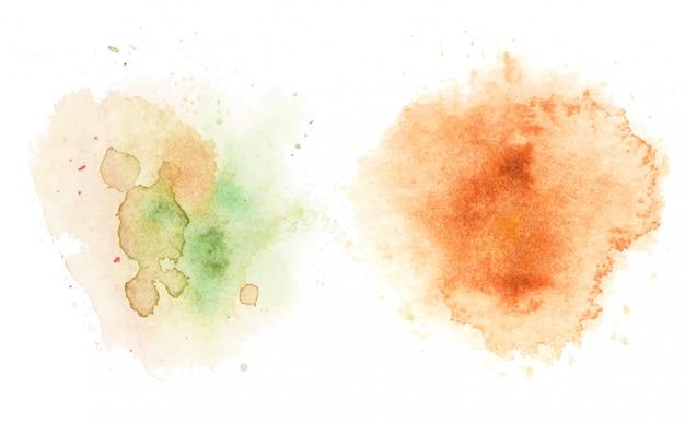 Manchas de aquarela, abstrato.