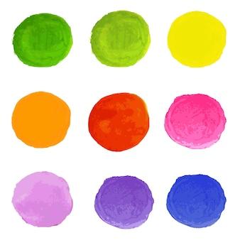 Manchas de aquarela, com malha gradiente,