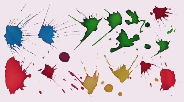 Manchas de aquarela pintadas à mão