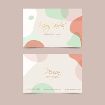 Manchas de cor pastel para cartão de visita