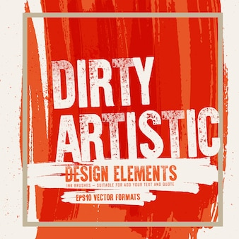Manchas de formas abstratas de manchas de tinta design elementos de fundo de design
