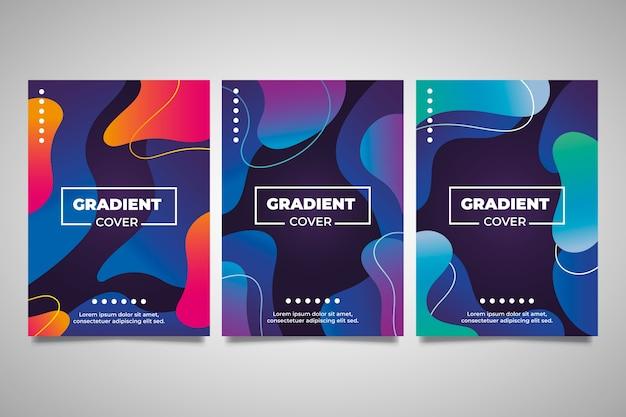 Manchas de gradiente líquido abstrato cobrir coleção
