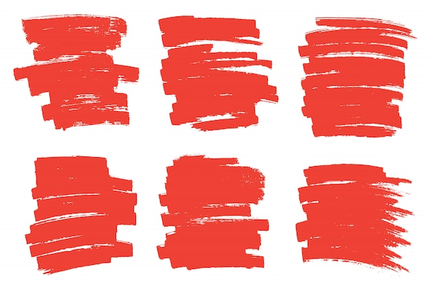 Manchas de marcador vermelho
