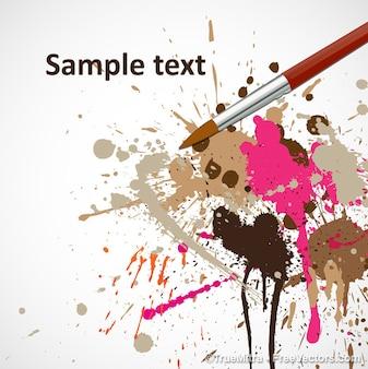 Manchas de tinta coloridas com pincel