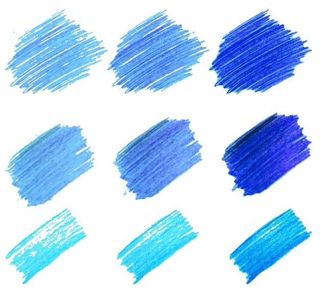 Manchas do marcador de cores