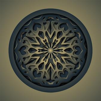 Mandala abstrata do corte do laser do ornamento