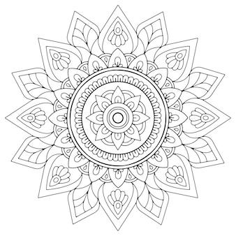 Mandala abstrata em arabescos para livro de colorir