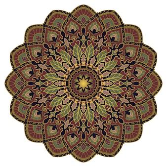 Mandala abstrata vintage. elemento indiano.