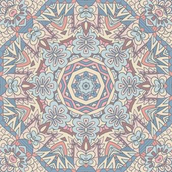 Mandala abstrata vintage têxtil indiano étnico padrão sem emenda ornamental