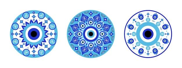Mandala azul mau-olhado