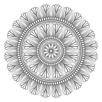 Mandala circular desenhada à mão
