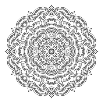 Mandala circular para conceito abstrato e decorativo