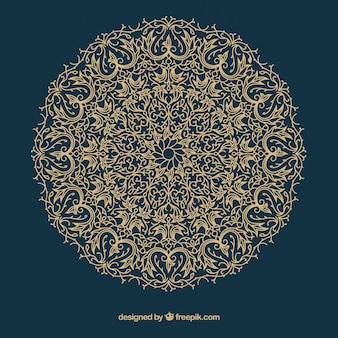 Mandala clássica com estilo étnico