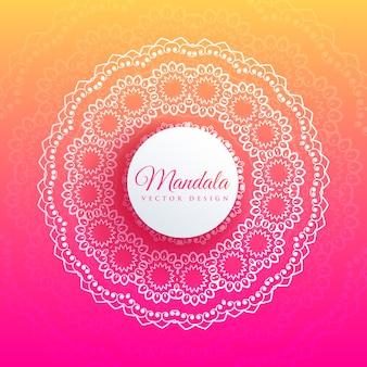 Mandala colorida arte elegante fundo