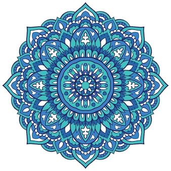 Mandala colorida de filigrana. mandala oriental.