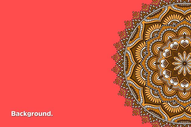 Mandala colorida de fundo dourado luxuoso