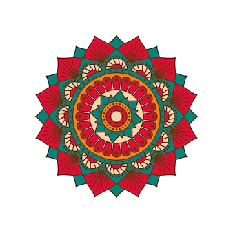 Mandala colorida de vetor