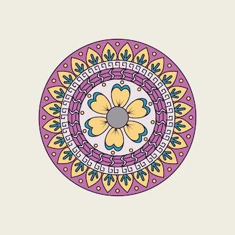 Mandala colorida indiana