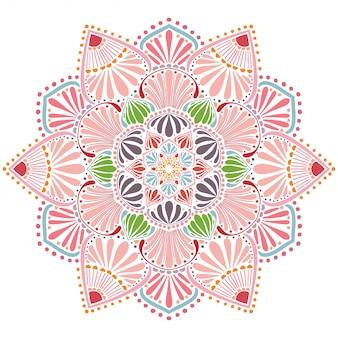 Mandala colorida, terapia oriental