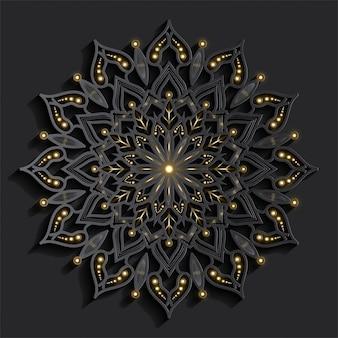 Mandala com efeito 3d