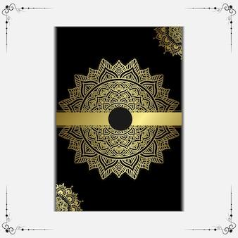 Mandala com padrão de ornamento floral