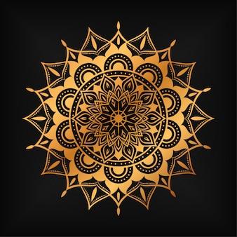 Mandala de arabesco de luxo