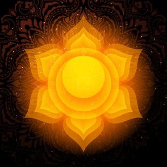 Mandala de chakra de swadhisthana. chakra sacral.