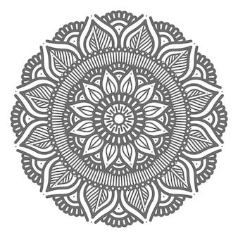 Mandala de conceito abstrato e decorativo de estilo circular Vetor Premium