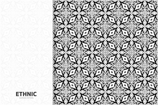 Mandala de desenho semless de padrão étnico tribal