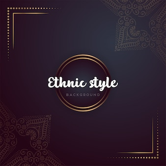 Mandala de design de luxo