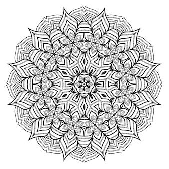 Mandala de estilo arabesco de luxo criativo