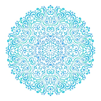 Mandala de flor abstrata. elemento étnico decorativo para design.