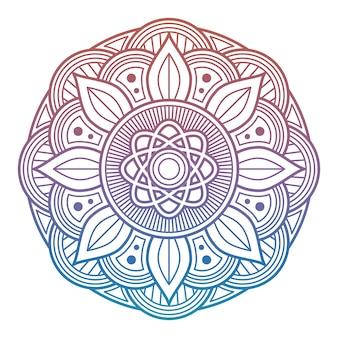 Mandala de flor colorida. elemento decorativo árabe, indiano, asiático