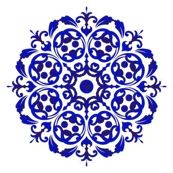 Mandala de flor de porcelana
