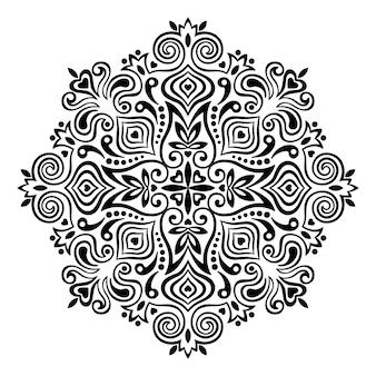 Mandala de flor. elemento abstrato para design