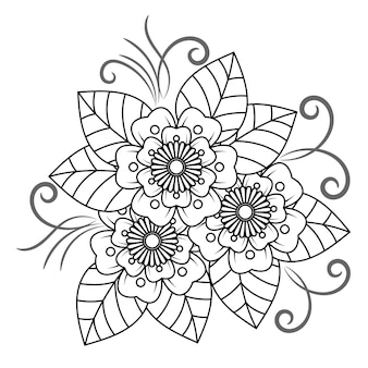 Mandala de flor para adultos relaxante livro para colorir.