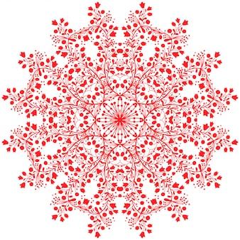 Mandala de flor vermelha