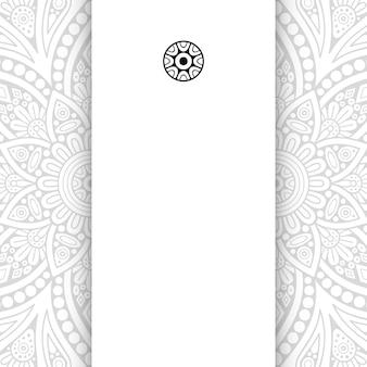 Mandala de flores. cartão de modelo simples