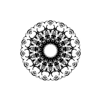 Mandala de flores. elementos decorativos vintage. padrão oriental, ilustração vetorial. islã, árabe, indiano, marroquino, espanha, turco, paquistão, chinês, místico, motivos otomanos. página de livro para colorir