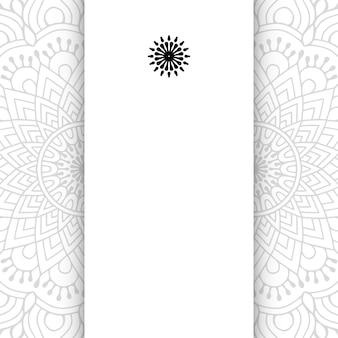 Mandala de flores. fundo de mandala simples com espaço de cópia.