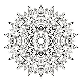 Mandala de flores.