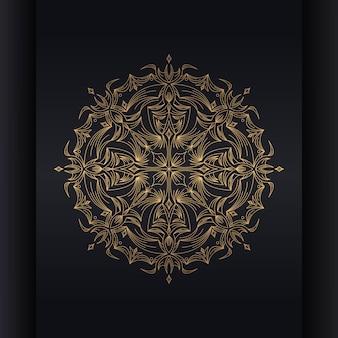 Mandala de fundo dourado