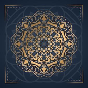 Mandala de luxo abstrato