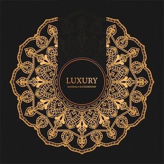 Mandala de luxo com arabesco dourado árabe islâmico