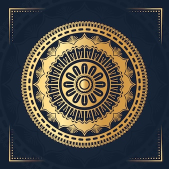 Mandala de luxo com arabescos islâmicos